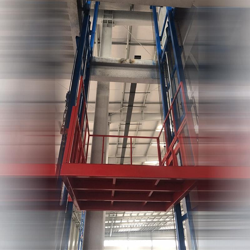导轨式液压升降货梯在安装时要注意什么