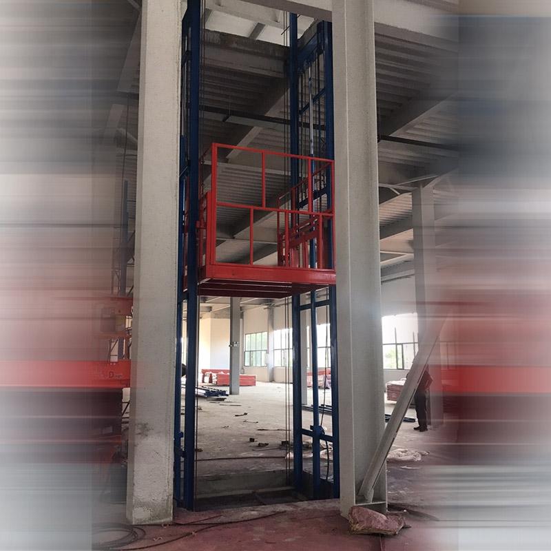 全自动液压升降货梯机械的结构