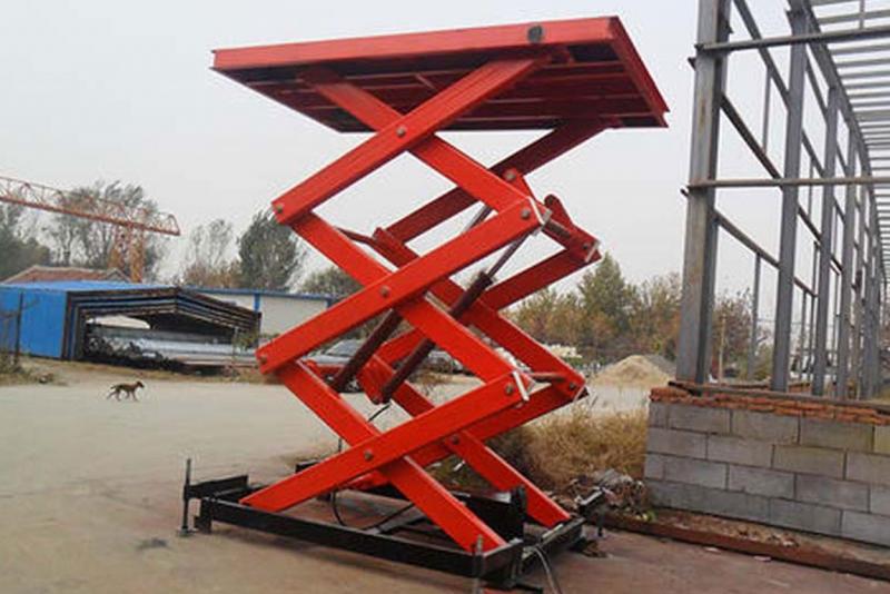 移动式升降平台的机械设备的应用